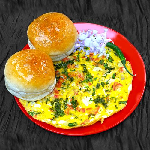 double-omlette-pav-shivrama-aurangabad